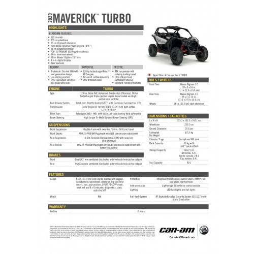 CAN-AM Maverick STD Turbo 2019