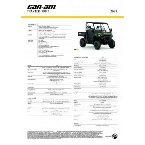 CAN-AM Traxter Base HD8 Convenience package