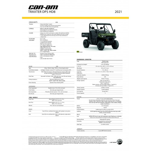 CAN-AM Traxter DPS HD8 Convenience Package