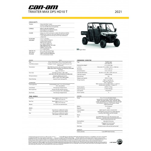 CAN-AM TRAXTER MAX HD10 DPS 2020